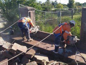diamond tipped concrete sawing